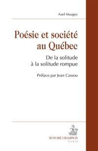 Poésie et société au Québec