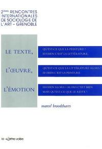 Le Texte, l'oeuvre, l'émotion