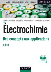Electrochimie, des concepts aux applications