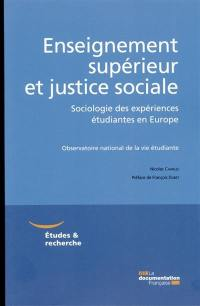 Enseignement supérieur et justice sociale