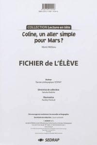 Coline, un aller simple pour Mars ? Marie Mélisou