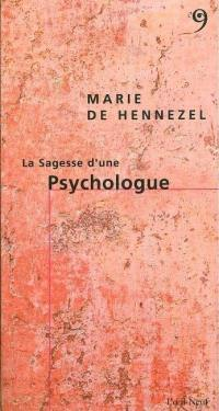 La sagesse d'une psychologue