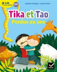 Tika et Tao, Perdus au zoo : je lis à mon rythme CE1