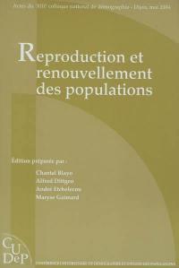Reproduction et renouvellement des populations