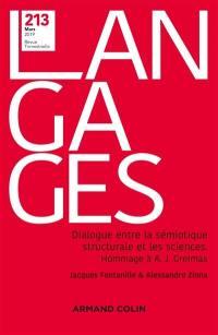 Langages. n° 213, Dialogue entre la sémiotique structurale et les sciences