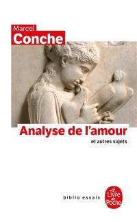 Analyse de l'amour