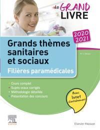 Grands thèmes sanitaires et sociaux, filières paramédicales 2020-2021