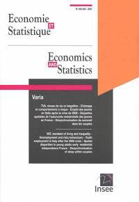Economie et statistique. n° 522-523, Varia