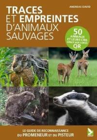Traces et empreintes d'animaux sauvages