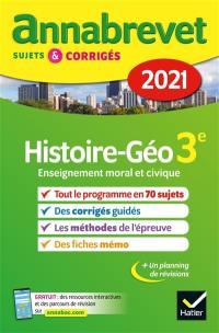 Histoire géo, enseignement moral et civique 3e