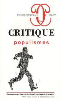 Critique. n° 776-777, Populismes