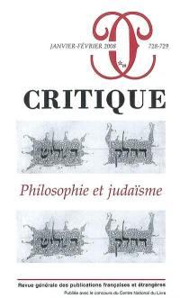 Critique. n° 728, Philosophie et judaïsme