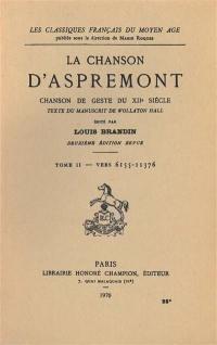 La chanson d'Aspremont. Volume 2, Vers 6155-11376