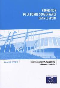Promotion de la bonne gouvernance dans le sport