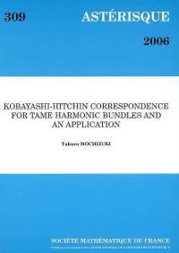 Astérisque. n° 309, Kobayashi-Hitchin correspondence for tame harmonic bundles and an application