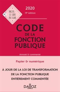 Code de la fonction publique 2020