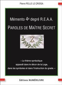 Mémento 4e degré REAA