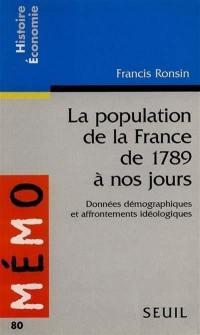 La population de la France de 1789 à nos jours