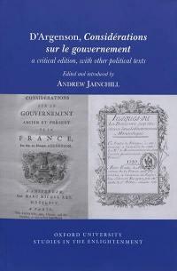 Considérations sur le gouvernement