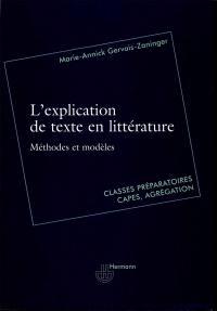 L explication de texte en littérature
