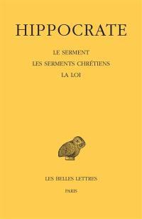Oeuvres complètes. Volume 1-2, Les serments chrétiens