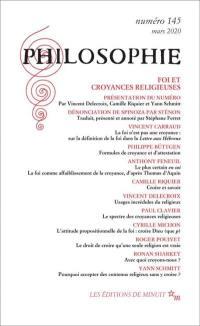 Philosophie. n° 145, Foi et croyances religieuses