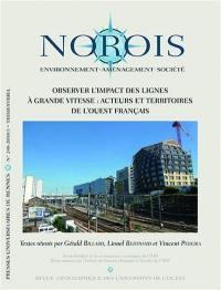 Norois. n° 248, Observer l'impact des lignes à grande vitesse