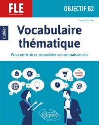 Vocabulaire thématique, FLE, objectif B2
