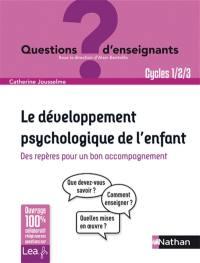 Le développement psychologique de l'enfant