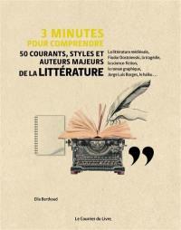 3 minutes pour comprendre 50 courants, styles et auteurs majeurs de la littérature