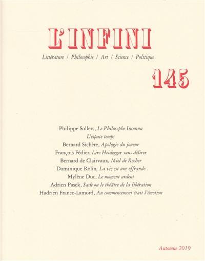 Infini (L'). n° 145,