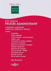 Petit traité du procès administratif 2021-2022