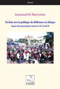 En finir avec la politique de différence en Afrique
