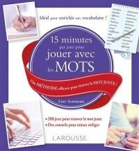 15 minutes par jour pour jouer avec les mots