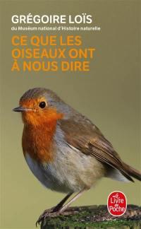 Ce que les oiseaux ont à nous dire