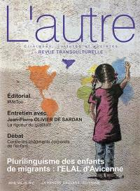 Autre (L'). n° 56, Plurilinguisme des enfants de migrants