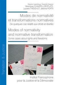 Modes de normativité et transformations normatives