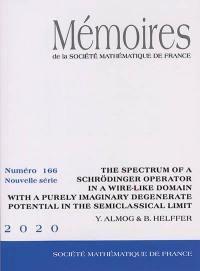 Mémoires de la Société mathématique de France. n° 166, The spectrum of a Schrödinger operator in a wire-like domain with a purely imaginary degenerate potential in the semiclassical limit