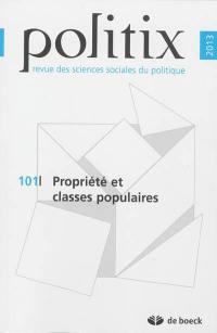 Politix. n° 101, Propriété et classes populaires