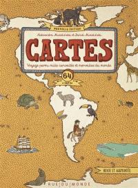 Cartes : voyage parmi mille curiosités et merveilles du monde : 64 pays