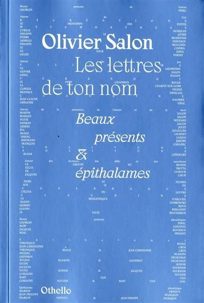 Les lettres de ton nom : beaux présents & épithalames
