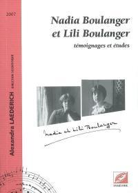 Nadia Boulanger et Lili Boulanger
