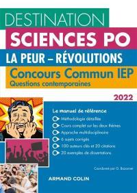 La peur, révolutions : concours commun IEP, questions contemporaines 2022