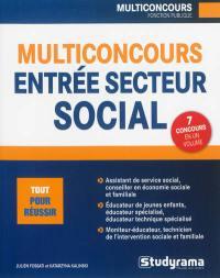 Multiconcours entrées secteur social