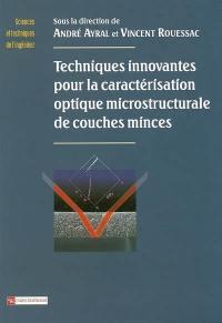 Techniques innovantes pour la caractérisation optique microstructurale de couches minces