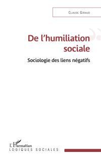 De l'humiliation sociale