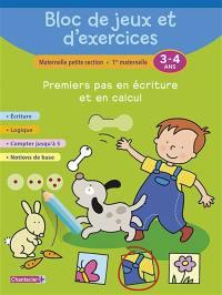 Bloc de jeux et d'exercices maternelle petite section, 1re maternelle, 3-4 ans