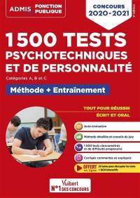 1.500 tests psychotechniques et de personnalité