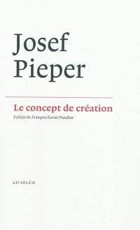 Le concept de création