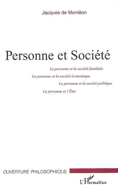 Personne et société